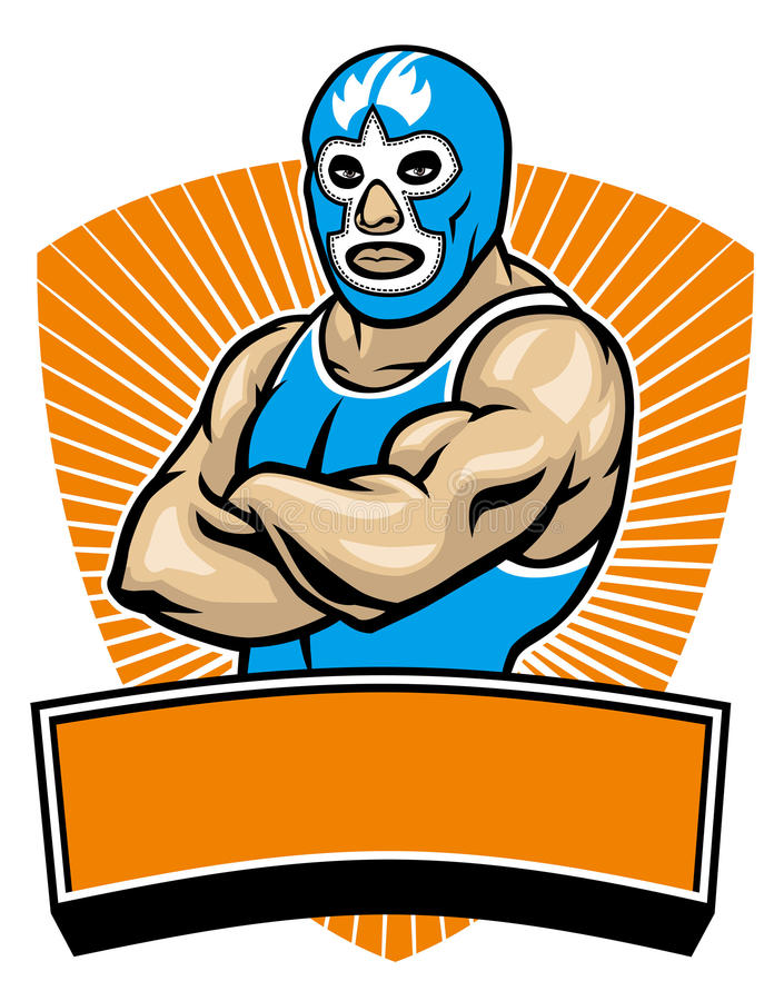 Luchador de Mesican ilustración del vector