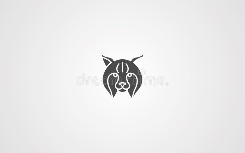 Luchsvektorikonen-Zeichensymbol lizenzfreie abbildung