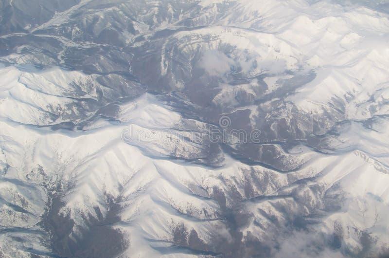 Lucht Bergketen Stock Afbeeldingen