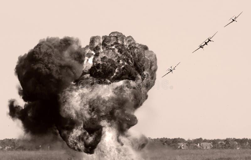Lucht bombardement stock fotografie