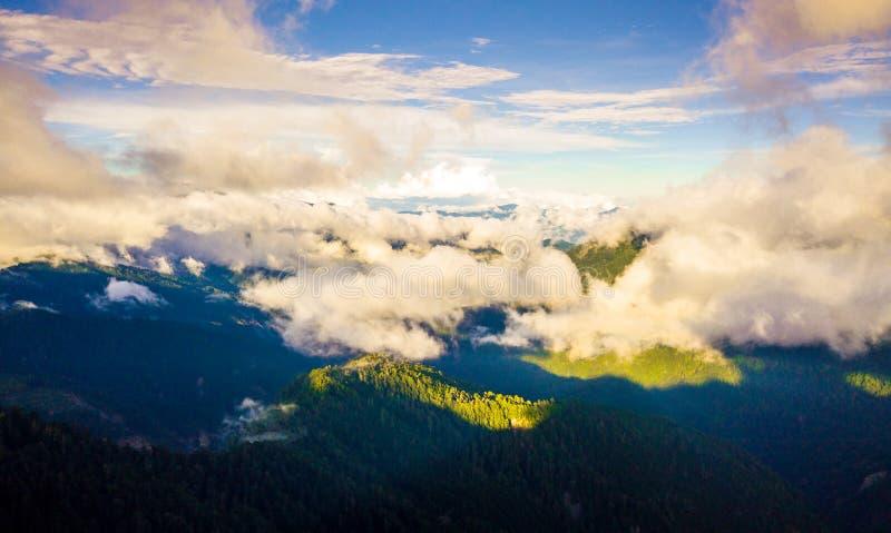 Lucht geschotene Hehuanshan-Berg stock afbeelding