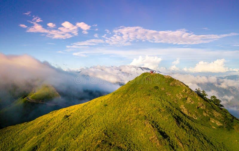 Lucht geschotene Hehuanshan-Berg stock foto's