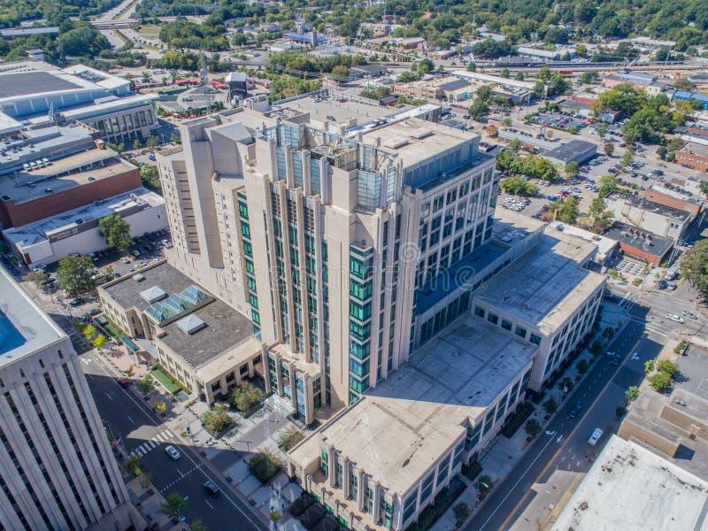 Lucht het Oogmening van de Hommelvogel ` s van Stad van Raleigh, NC royalty-vrije stock foto