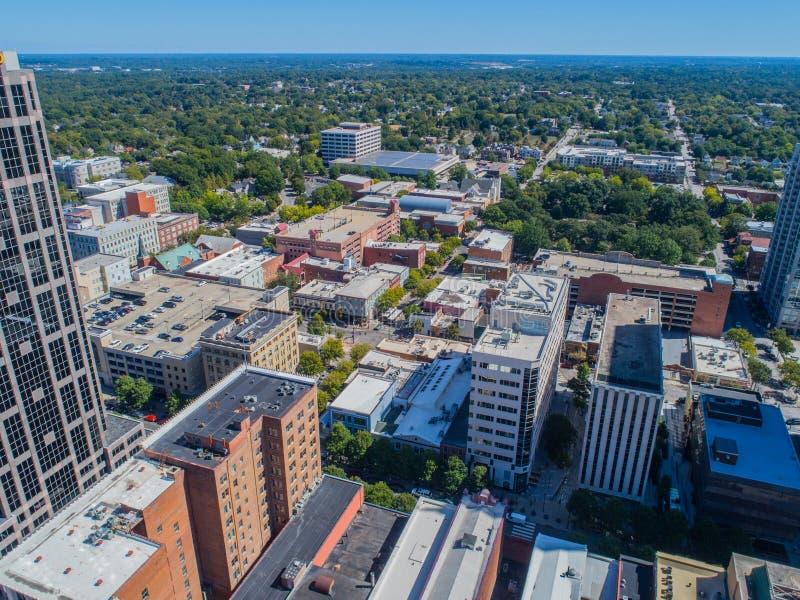 Lucht het Oogmening van de Hommelvogel ` s van Stad van Raleigh, NC stock foto