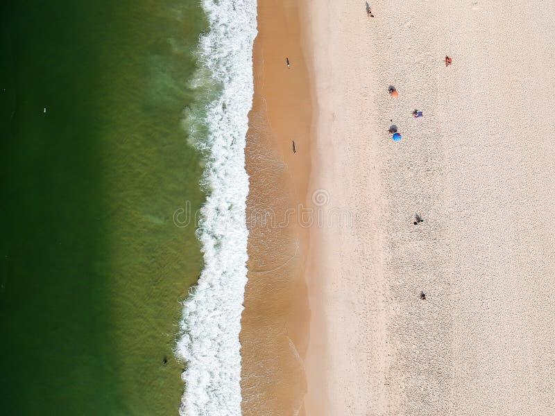 Lucht het strandmening van hommelleblon, Rio de Janeiro royalty-vrije stock foto's