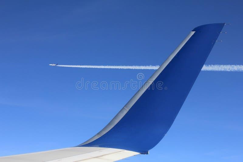 Lucht-lucht meningsvliegtuig stock foto