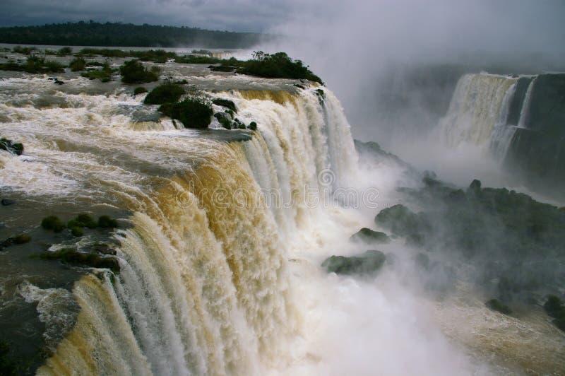 Lucht mening - Iguassu valt in de Winter stock fotografie