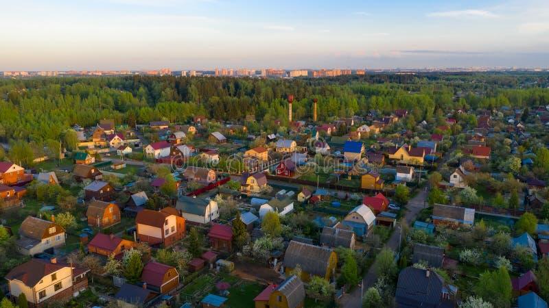 Lucht Mening Landelijk landschap stock foto