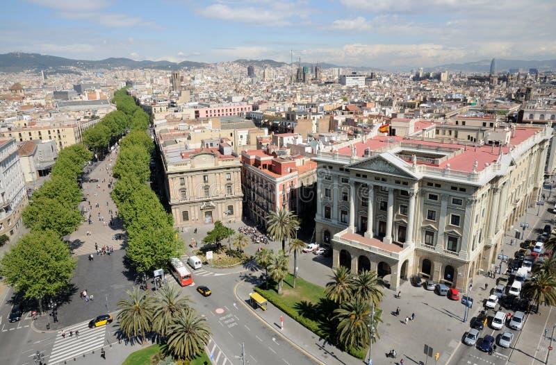 Lucht mening over Barcelona, Spanje stock fotografie