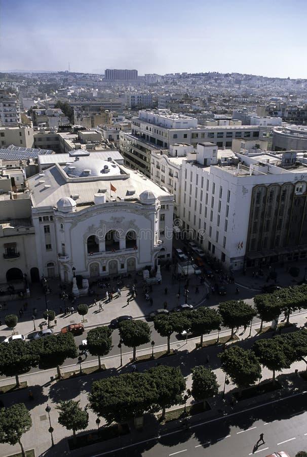 Lucht mening Tunis, Tunesië royalty-vrije stock fotografie