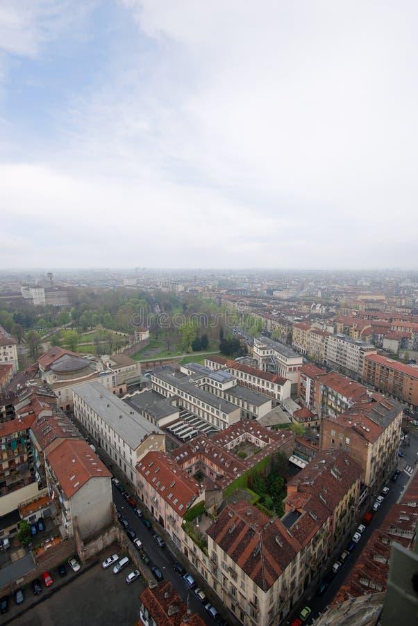 Lucht Mening Turijn Italië stock afbeeldingen