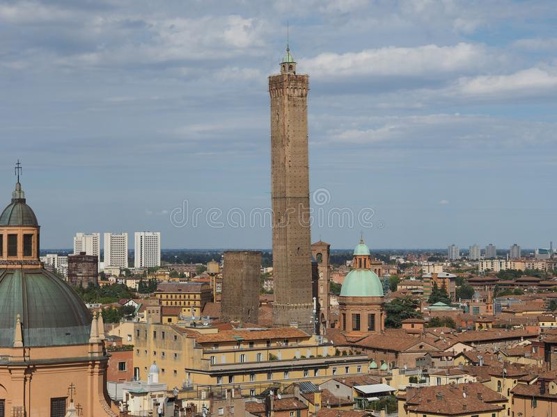 Lucht mening van Bologna royalty-vrije stock foto