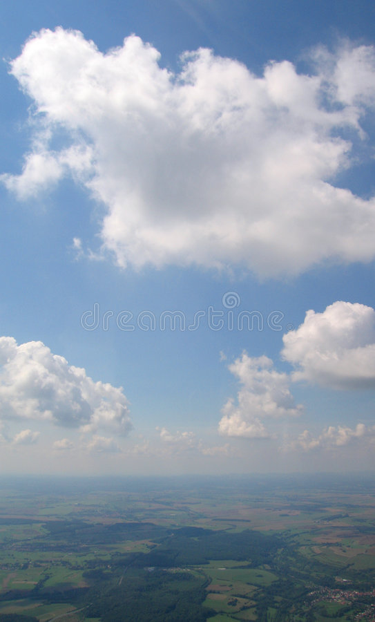 Lucht mening van Cumulus stock foto's