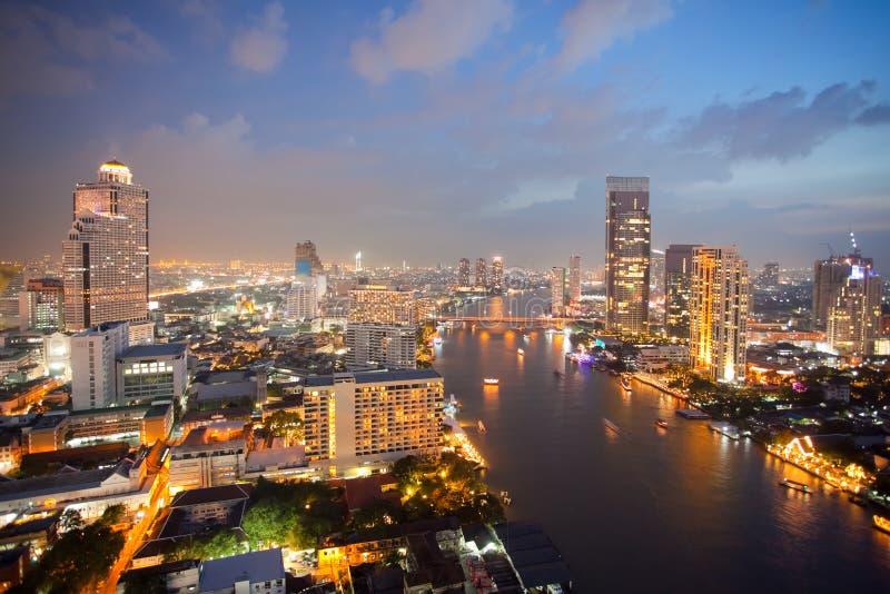 Lucht mening van de Horizon van Bangkok royalty-vrije stock fotografie