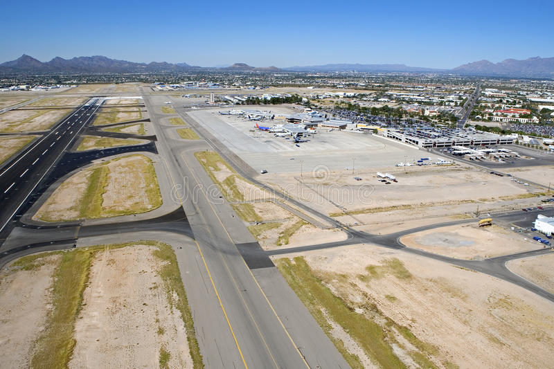De Internationale Luchthaven van Tucson stock foto's