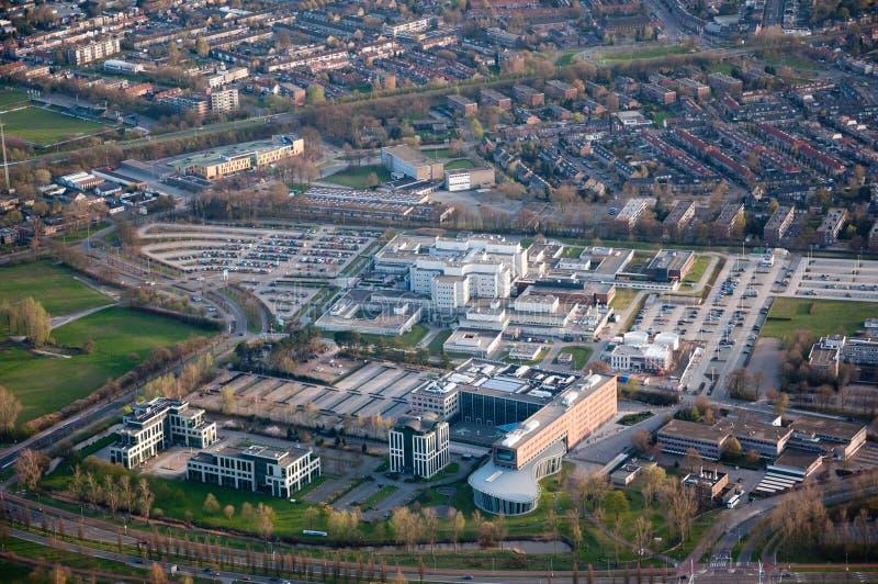 Lucht mening van de stad van Breda (Nederland) stock afbeeldingen