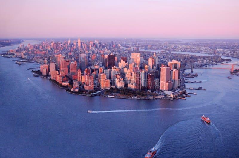 Lucht mening van de Stad van New York stock foto's