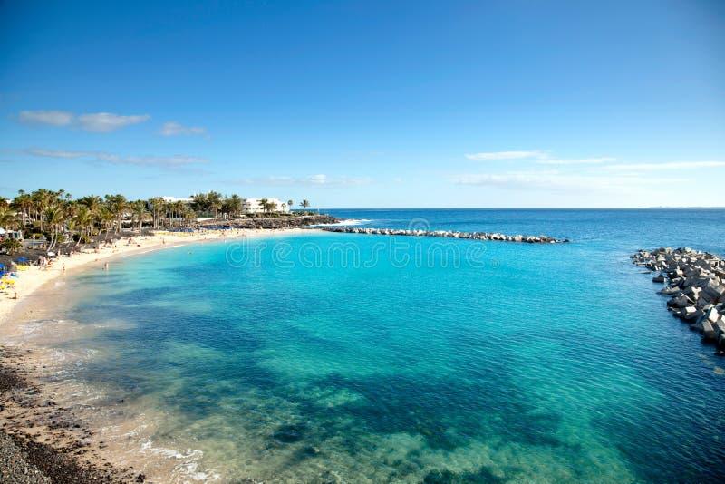Lucht mening van een mooi strand royalty-vrije stock fotografie