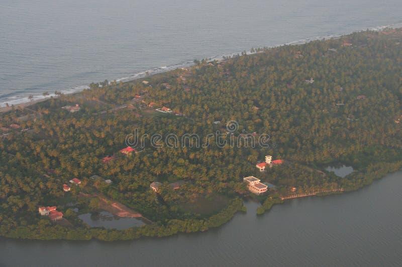 Lucht mening van eiland stock foto's
