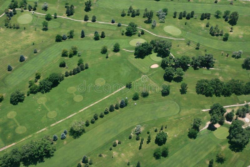 Lucht mening van golfcursus stock fotografie