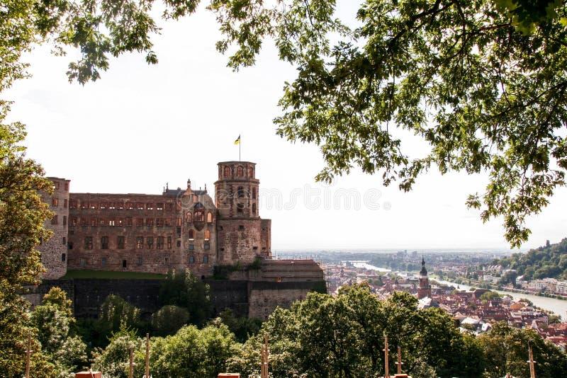 Lucht mening van Heidelberg stock afbeeldingen
