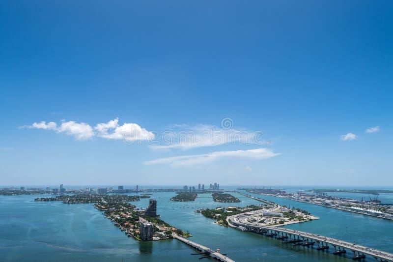 Lucht mening van het Strand van Miami royalty-vrije stock afbeelding