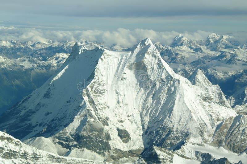 Lucht mening van Himalayagebergte royalty-vrije stock fotografie