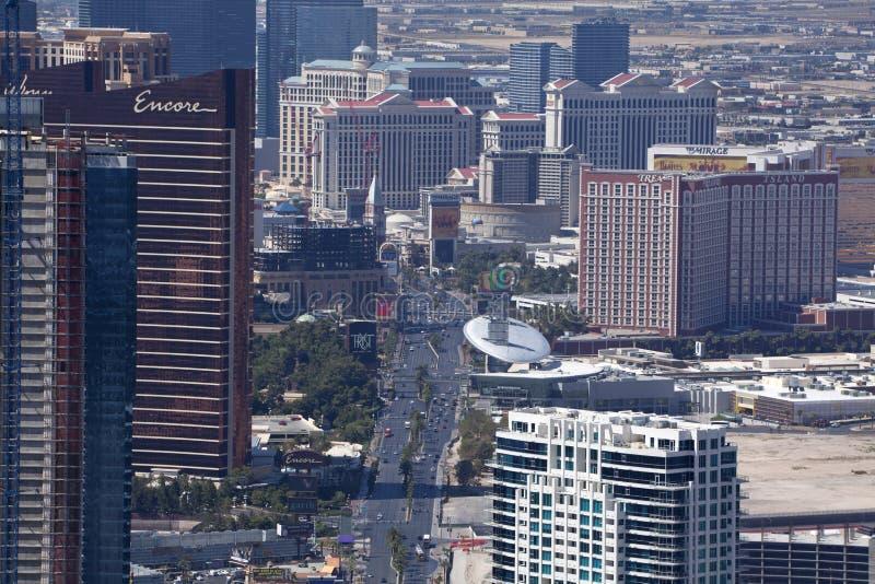 Lucht Mening van Las Vegas Blvd stock fotografie