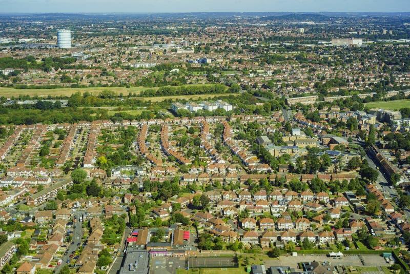 Lucht Mening van Londen stock foto's