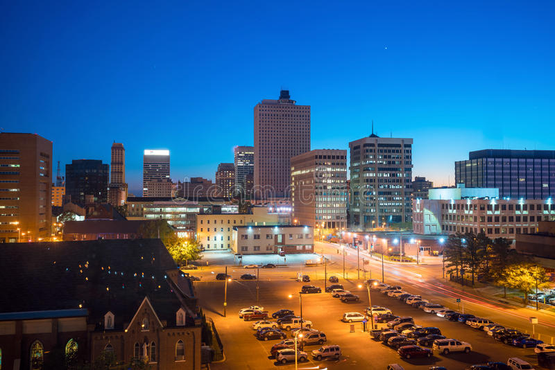 Lucht mening van Memphis van de binnenstad royalty-vrije stock fotografie