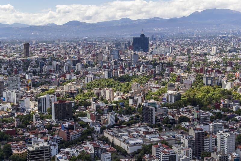 Lucht mening van Mexico-City stock foto