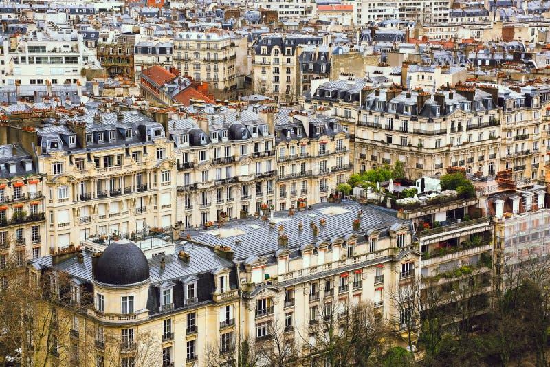 Lucht mening van Parijs, Frankrijk stock afbeelding