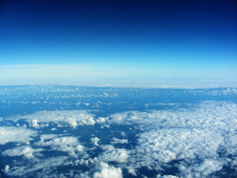 Lucht mening van vliegtuig stock foto's