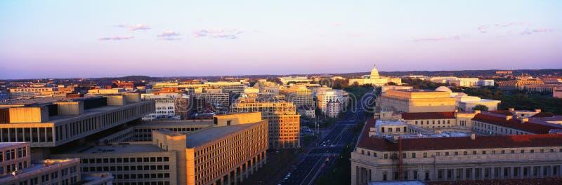 Lucht mening van Washington royalty-vrije stock foto's