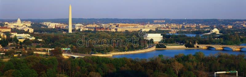 Lucht mening van Washington royalty-vrije stock afbeeldingen