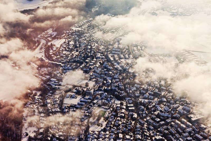Lucht mening van Zürich stock fotografie