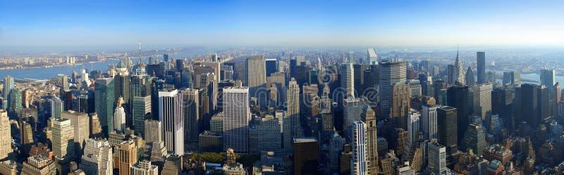 Lucht panorama over Manhattan, New York royalty-vrije stock afbeelding