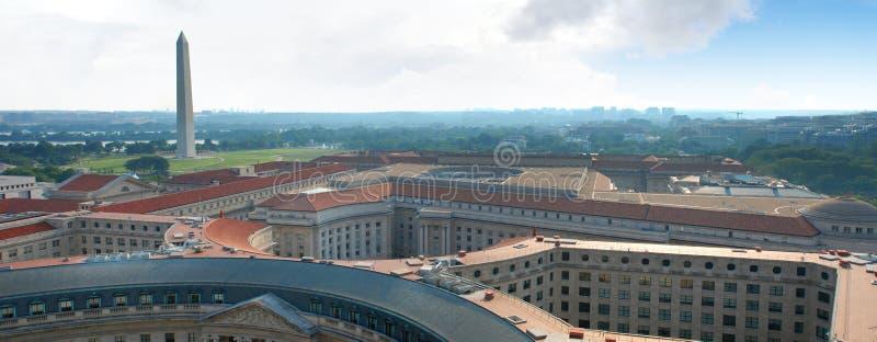 Lucht Panorama van Washington DC, Hoofdstad van de V.S. royalty-vrije stock afbeeldingen