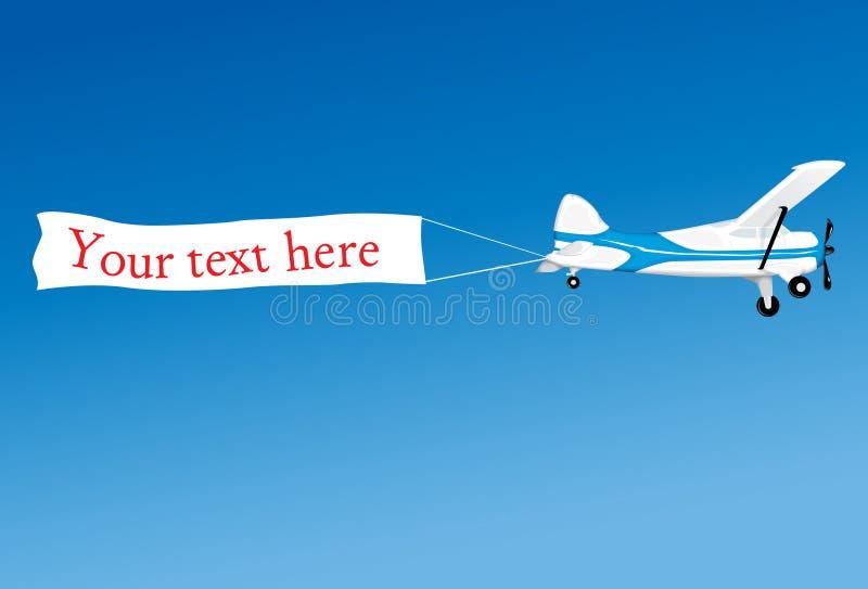 Lucht reclame royalty-vrije illustratie