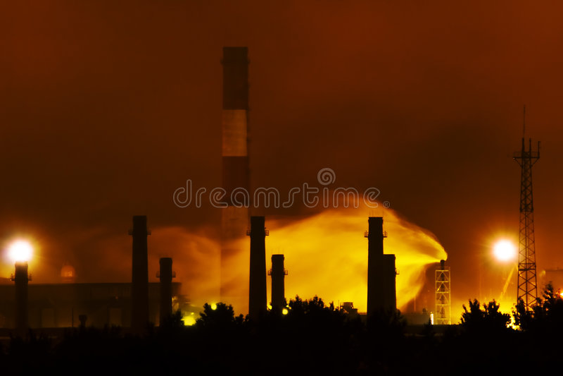 Lucht verontreiniging-3 royalty-vrije stock afbeelding