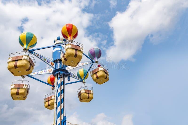 Lucht vrolijk gaat om carrousel royalty-vrije stock foto
