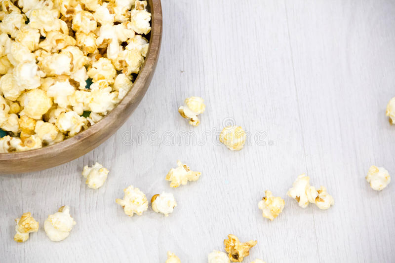 Lucht zoute popcorn stock afbeelding