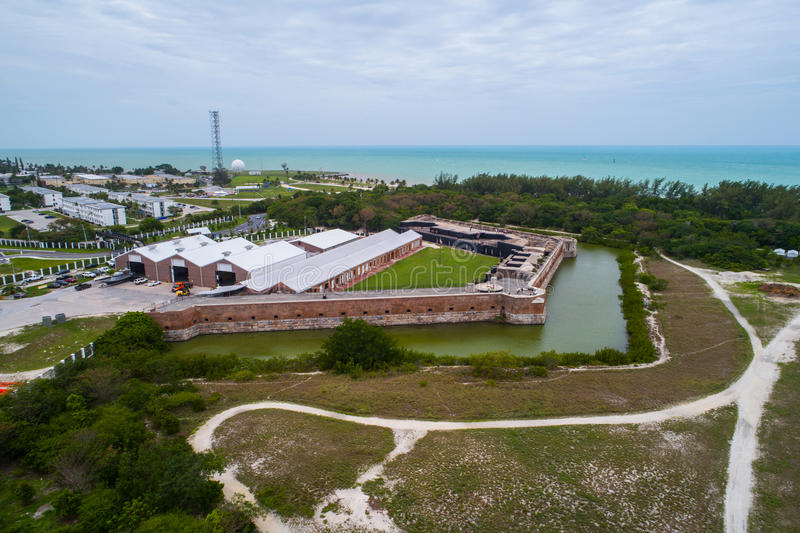 Luchtbeeld van het Fort Zachary Taylor Fortress Key West stock fotografie