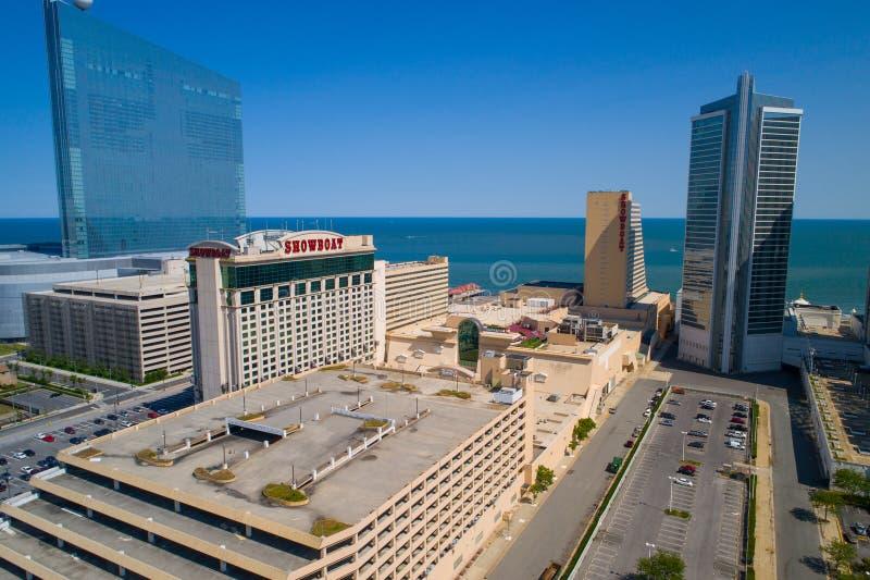 Luchtbeeld van het Showboat-casino en de toevlucht Atlantic City NJ royalty-vrije stock fotografie