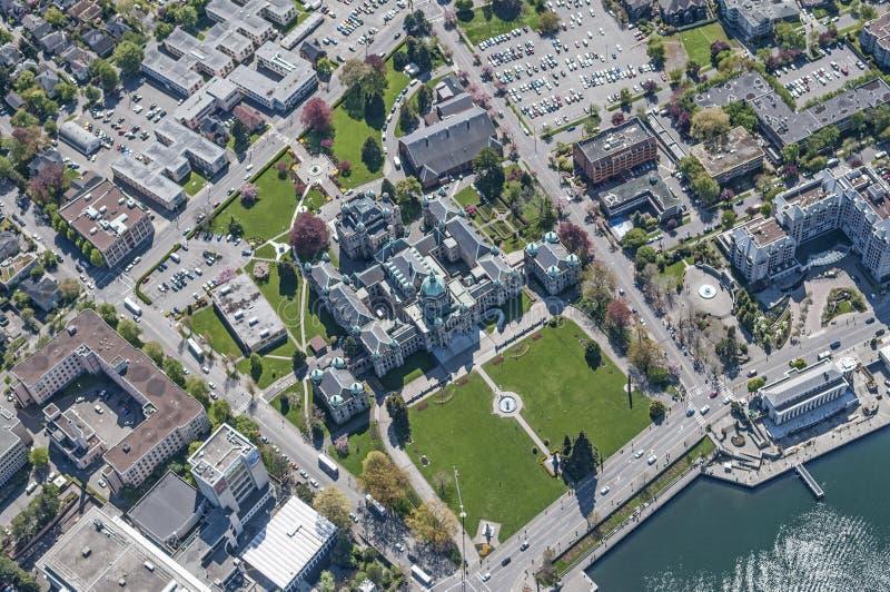 Luchtbeeld van Victoria, BC, Canada stock fotografie
