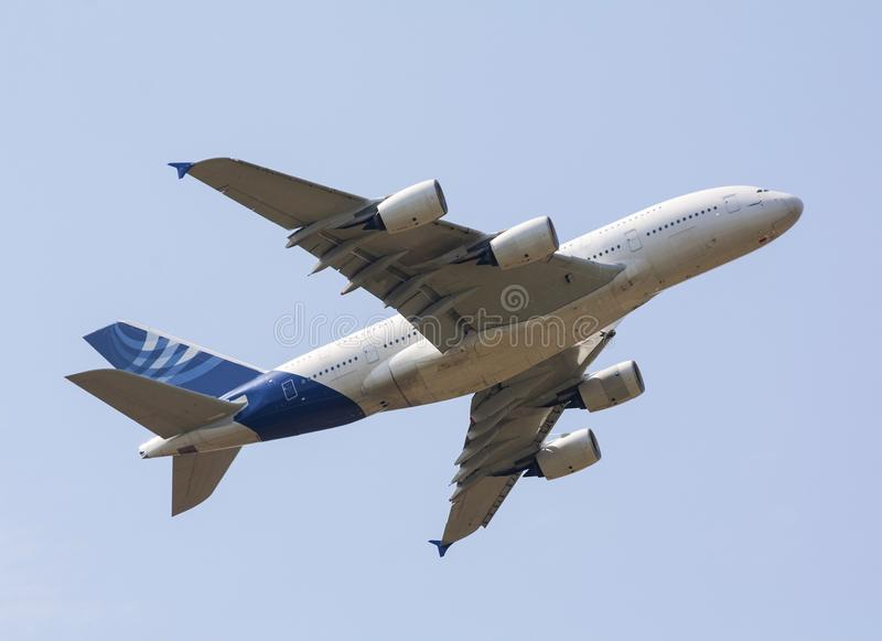 Luchtbus A380 stock foto