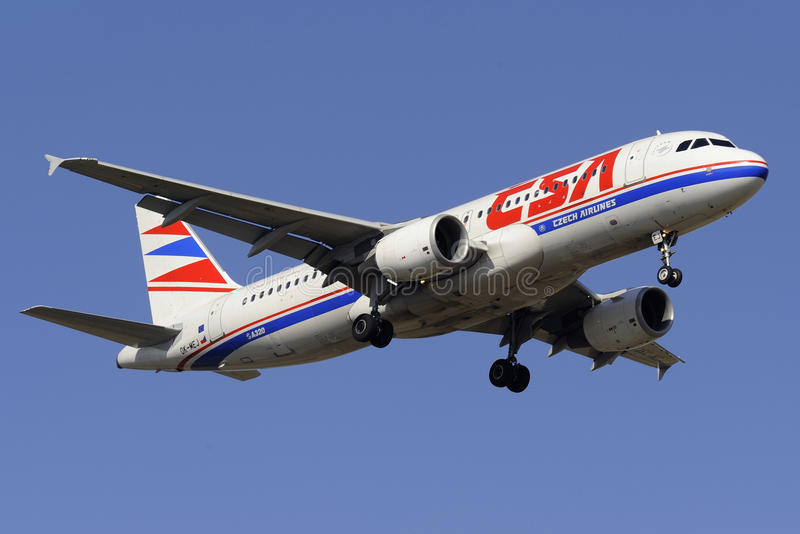 Luchtbus A320-214 stock afbeelding