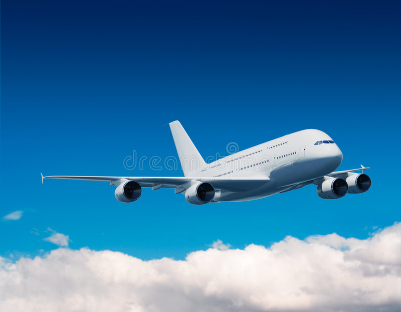 Luchtbus A380 Royalty-vrije Stock Fotografie