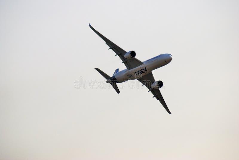 Luchtbus A350-900 bij de Internationale Ruimtevaartsalon van MAKS royalty-vrije stock foto's