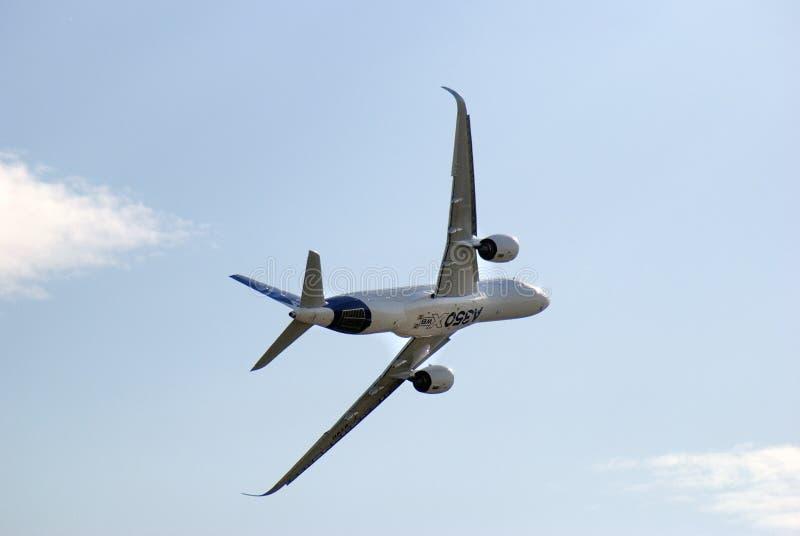 Luchtbus A350-900 bij de Internationale Ruimtevaartsalon van MAKS royalty-vrije stock fotografie